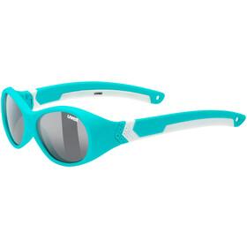 UVEX Sportstyle 510 Sportbrille Kinder turquoise white/smoke